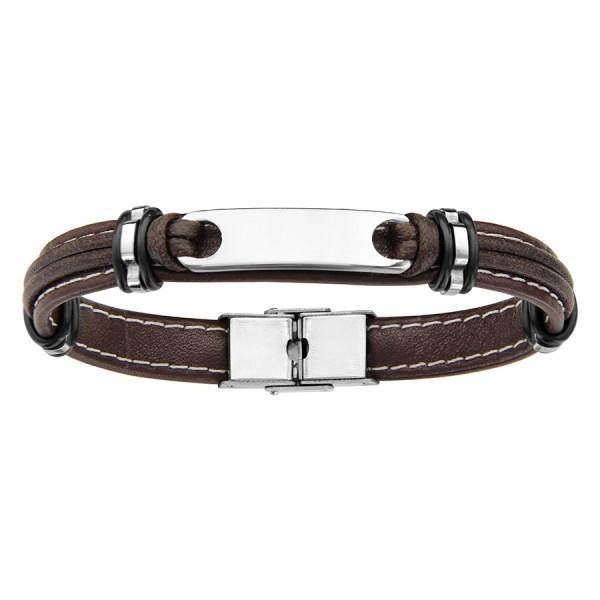 San Francisco cf1ed ba345 Bracelet Homme Acier & Cuir