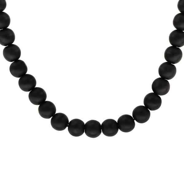 collier de perle noir pour homme